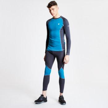 Advanced - Herren Baselayer-Set mit Wolle Ebony Ocean Depths Aluminium Grey