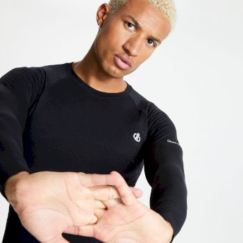 In The Zone Langärmeliges Baselayer-Top für Herren Schwarz