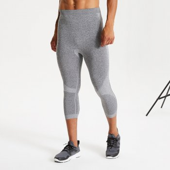 In The Zone Baselayer-Leggings mit 3/4-Länge für Herren Grau