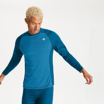 Dare 2b Men's Exchange Base Layer Set - Methyl Blue Petrol Blue