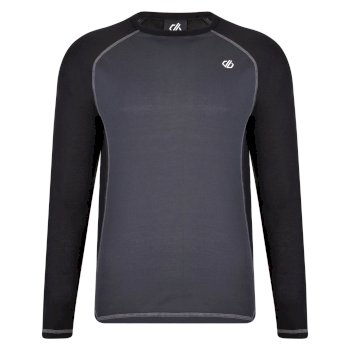 Exchange langärmeliges Baselayer-Top für Herren Schwarz