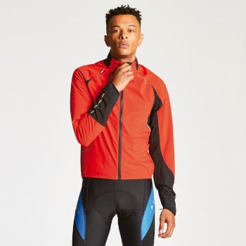 Men's AEP Chaser Cycling Jacket - Seville Red Black