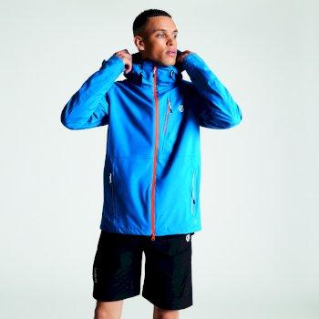Dare 2b Men's Diluent Lightweight Waterproof Jacket with Detachable Hood - Petrol Blue