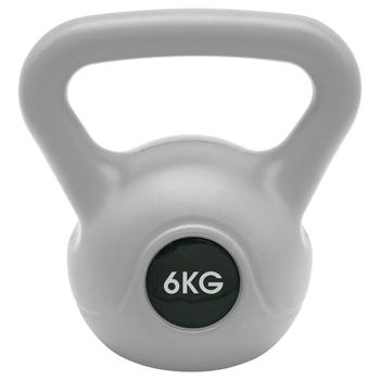 Kettlebell 6 kg Grau