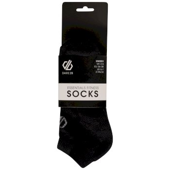 Adult's Essentials No Show Socken 3er Pack Schwarz