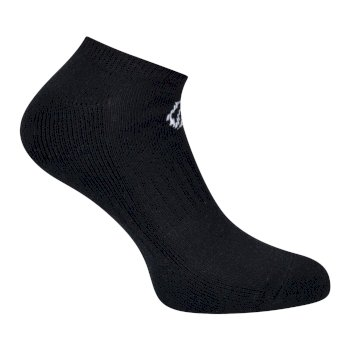 Adult's Essentials No Show Socken 2er Pack Schwarz