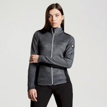 Dare2b Women's Ambience Luxe Ski Midlayer Sweater Charcoal