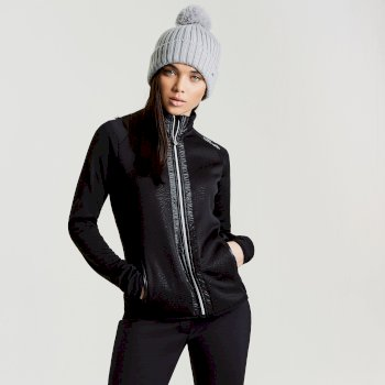 Dare2b Women's Solaris Luxe Ski Midlayer Sweater Black