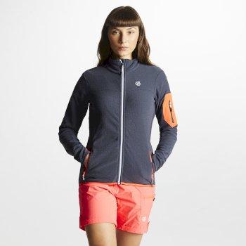 Tenable Fleece-Jacke für Damen mit durchgehendem Reißverschluss grau