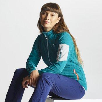 Tenable Fleece-Jacke für Damen mit durchgehendem Reißverschluss Karibik Grün