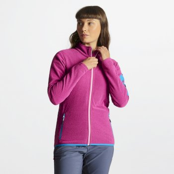 Tenable Fleece-Jacke für Damen mit durchgehendem Reißverschluss Cyber Pink