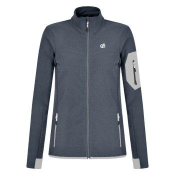 Tenable Fleece-Jacke für Damen mit durchgehendem Reißverschluss Quarry Grey Argent Grey