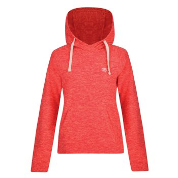 Omnitude Fleece-Hoodie für Damen Fiery Coral