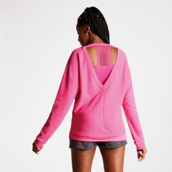 Resilience Damen-Sweatshirt mit Rückenausschnitt pink