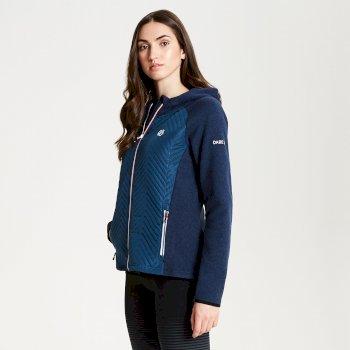 Glorious - Damen Fleecejacke mit Kapuze & Reißverschluss Blue Wing
