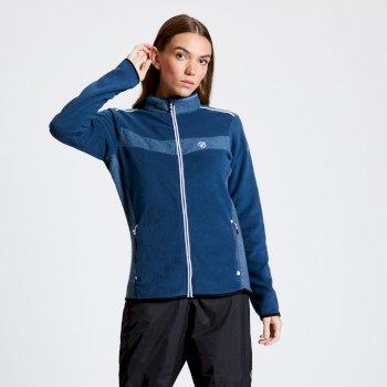 Include - Damen Fleecejacke mit Reißverschluss Blue Wing