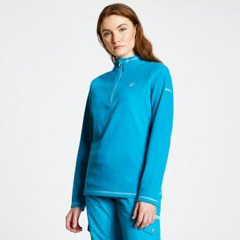 Freeform - Damen Pullover mit Reißverschluss - leichtes Fleece Süßwasserblau