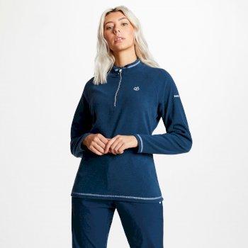 Freeform - Damen Pullover mit Reißverschluss - leichtes Fleece Blue Wing