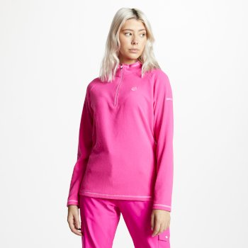 Dare2b Women's Freeform Half Zip Lightweight Fleece - Cyber Pink