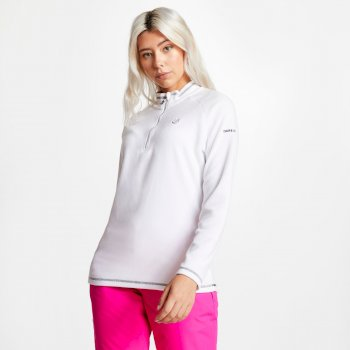 Dare2b Women's Freeform Half Zip Lightweight Fleece - White