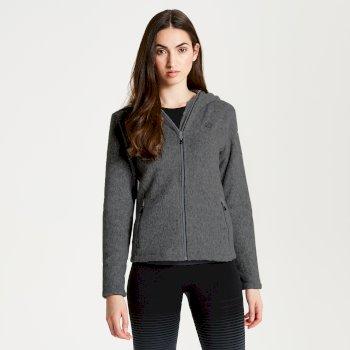 Forerun - Damen Fleecejacke mit Kapuze & Reißverschluss Charcoal Grey
