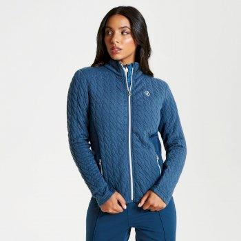 Sumptuous - Damen Midlayer-Jacke mit Reißverschluss - Strickgewebe Blue Wing
