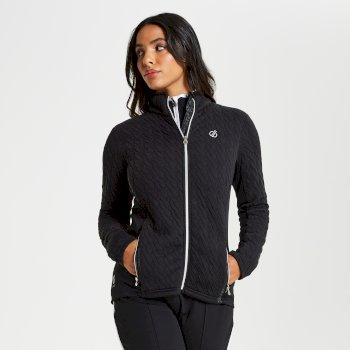 Sumptuous - Damen Midlayer-Jacke mit Reißverschluss - Strickgewebe Black
