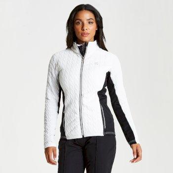 Sumptuous - Damen Midlayer-Jacke mit Reißverschluss - Strickgewebe White
