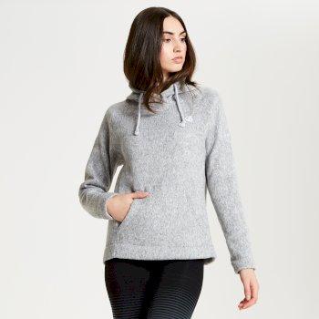 Realise - Damen Fleece-Oberteil mit Kapuze Ash Marl