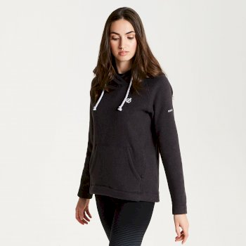 Realise - Damen Fleece-Oberteil mit Kapuze Charcoal Grey