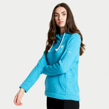 Realise - Damen Fleece-Oberteil mit Kapuze Fresh Water Blue