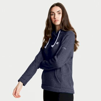Realise - Damen Fleece-Oberteil mit Kapuze Blue Wing