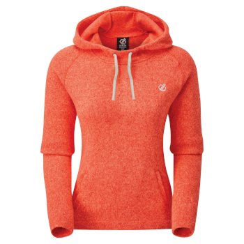 Initiative Kapuzenfleece für Damen Orange