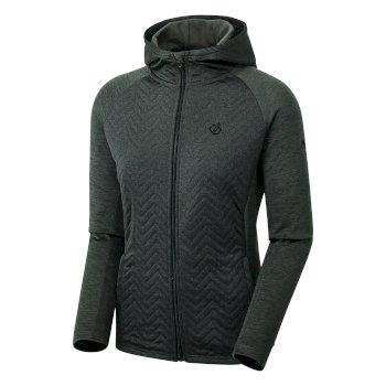 Women's Faultless Full Zip Hooded Hybrid Fleece Grau