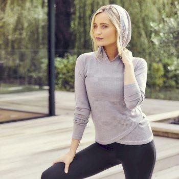 Result Kapuzensweatshirt Für Damen Grau