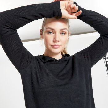 Dare 2b Women's Result Overhead Hooded Sweater - Black
