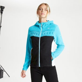 Herald Fleece-Sweatshirt mit Kapuze und durchgehendem Reißverschluss für Damen Blau