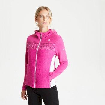 Herald Fleece-Sweatshirt mit Kapuze und durchgehendem Reißverschluss für Damen Rosa