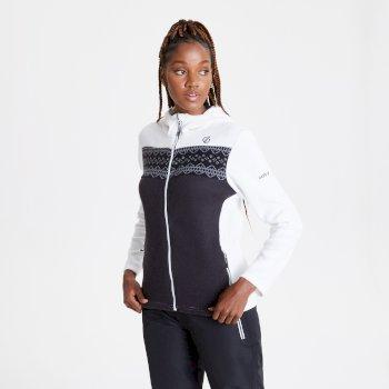 Herald Fleece-Sweatshirt mit Kapuze und durchgehendem Reißverschluss für Damen Weiß