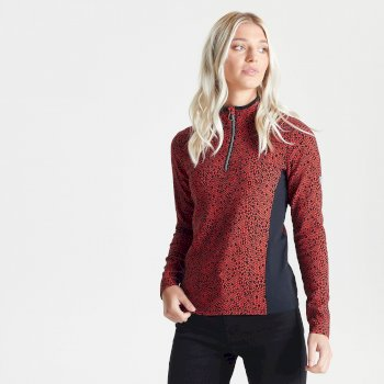 Dare 2b Swarovski Embellished - Women's Immortal Half Zip Luxe Sweater - Seville Red