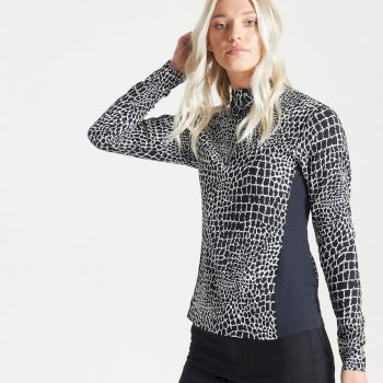 Dare 2b Swarovski Embellished - Women's Immortal Half Zip Luxe Sweater - Monochrome