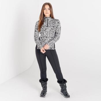 Swarovski Embellished - Immortal Luxe Sweatshirt mit halblangem Reißverschluss für Damen Schwarz