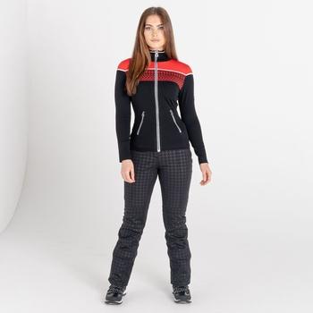 Swarovski Embellished - Lucent Luxe Sweatshirt mit durchgehendem Reißverschluss für Damen Rot