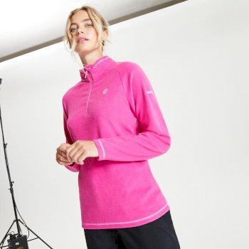 Freeform II Fleece mit halblangem Reißverschluss für Damen Rosa