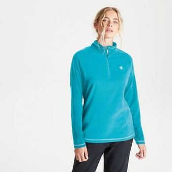 Freeform II Fleece mit halblangem Reißverschluss für Damen Blau