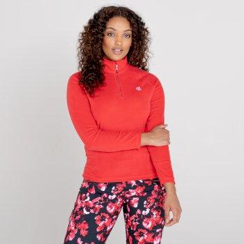 Freeform II Fleece mit halblangem Reißverschluss für Damen Rot