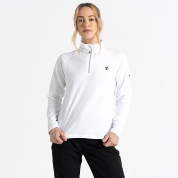 Freeform II Fleece mit halblangem Reißverschluss für Damen Weiß