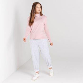 Mit Swarovski verziert - Swoop luxuriöses Sweatshirt zum Drüberziehen mit lässigem Kragen für Damen Rosa