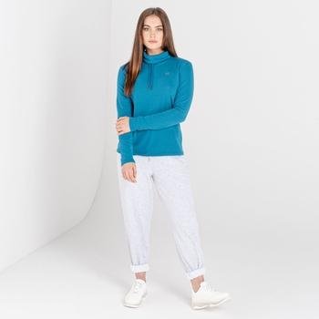 Mit Swarovski verziert - Swoop luxuriöses Sweatshirt zum Drüberziehen mit lässigem Kragen für Damen Blau