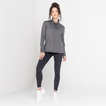 Mit Swarovski verziert - Swoop luxuriöses Sweatshirt zum Drüberziehen mit lässigem Kragen für Damen Grau